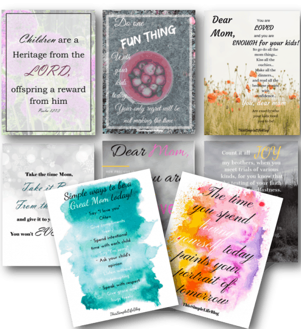 Free Mom Inspiration Printables