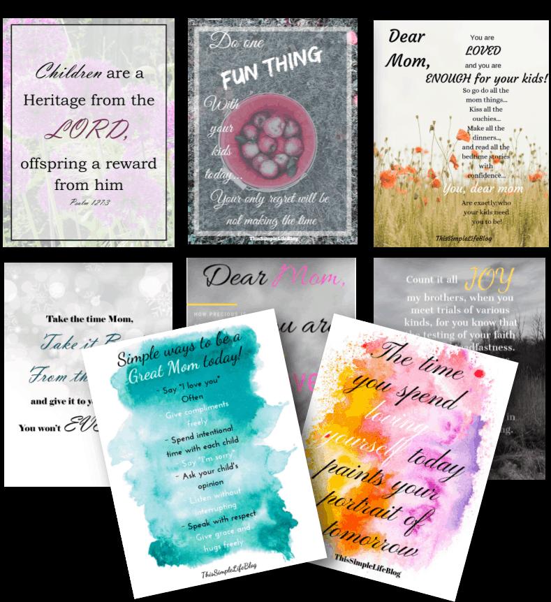 Free Mom Inspiration Printables