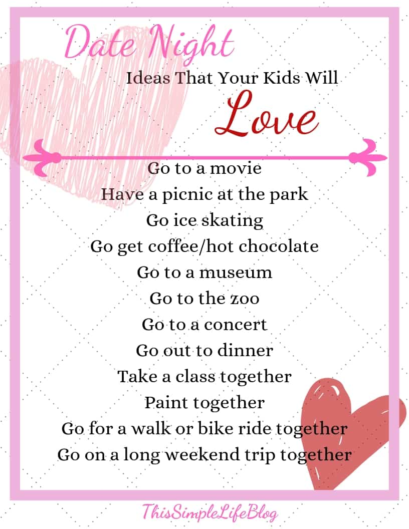 Date night idea that your kids will love, Spend intentional time with your child