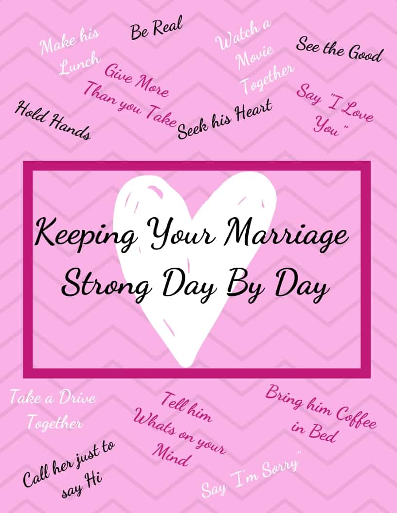 Keeping Your Marriage Strong Day By Day