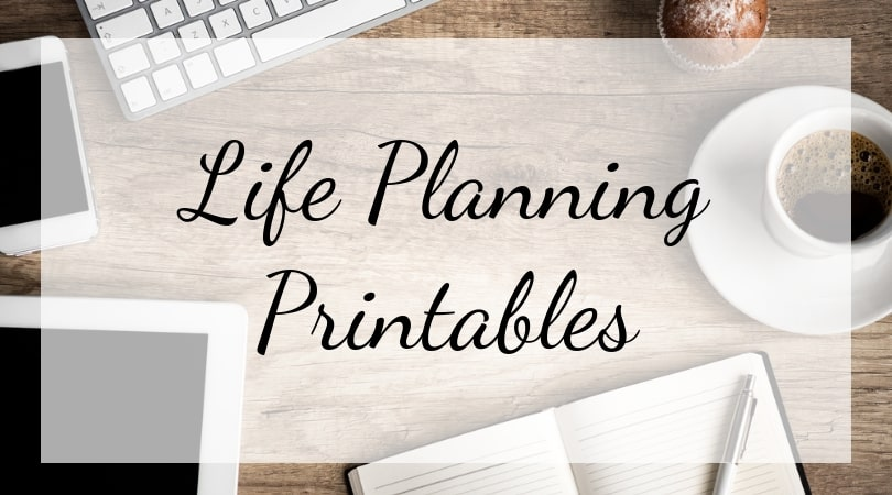 Life Planning Printable Cover