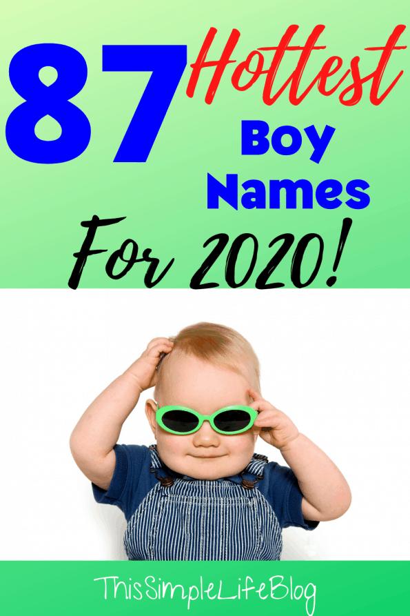 Best boy names in 2020