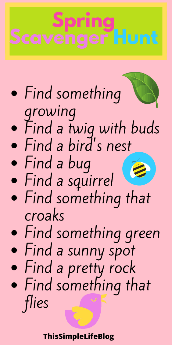 Boredom buster scavenger hunts for kids