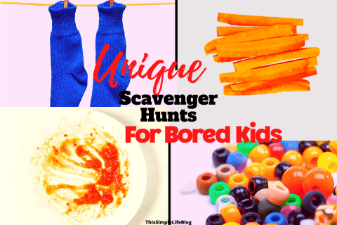 Scavenger Hunt Ideas For Bored Kids
