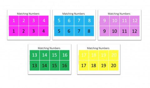 Numbers Matching Game for Preschoolers.