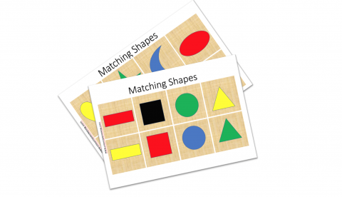 Shapes Matching Game for Preschoolers.